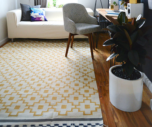 ikea rug, tribal print rug, patterned rug