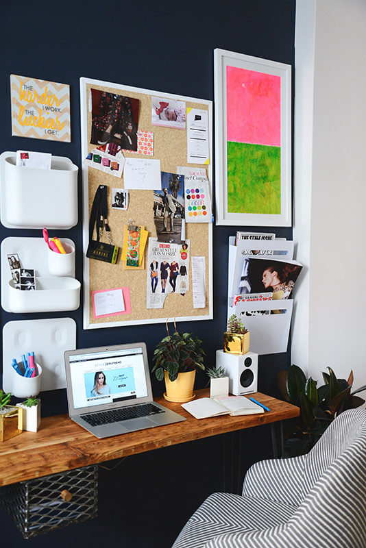 home office makeover, style girlfriend, homepolish