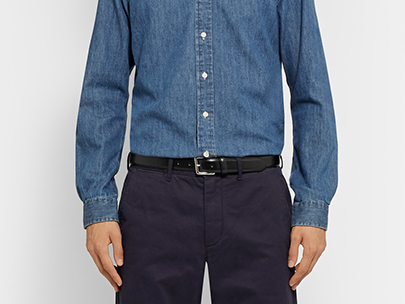 Men's Wardrobe Essential: Black Dress Belt