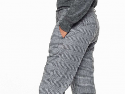 Dapper in Patterned Pants at Work