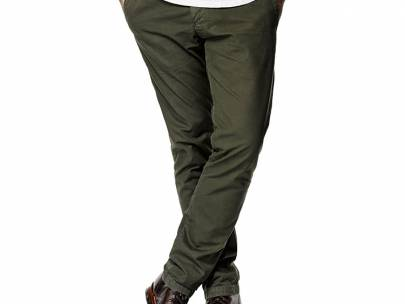 How to Wear Olive Green Chinos