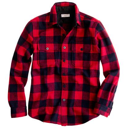 Buffalo-Plaid Shirt Jacket for Men