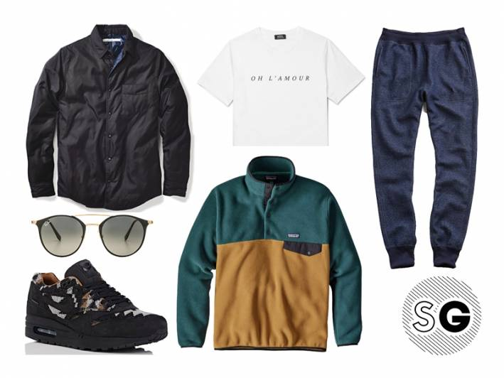 fleece pullover, todd snyder, joggers, outerknown, shacket, ray-ban, pendleton, nike, a.p.c., patagonia